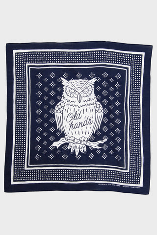 Old Hands clothing japan Owl Bandana - Navy