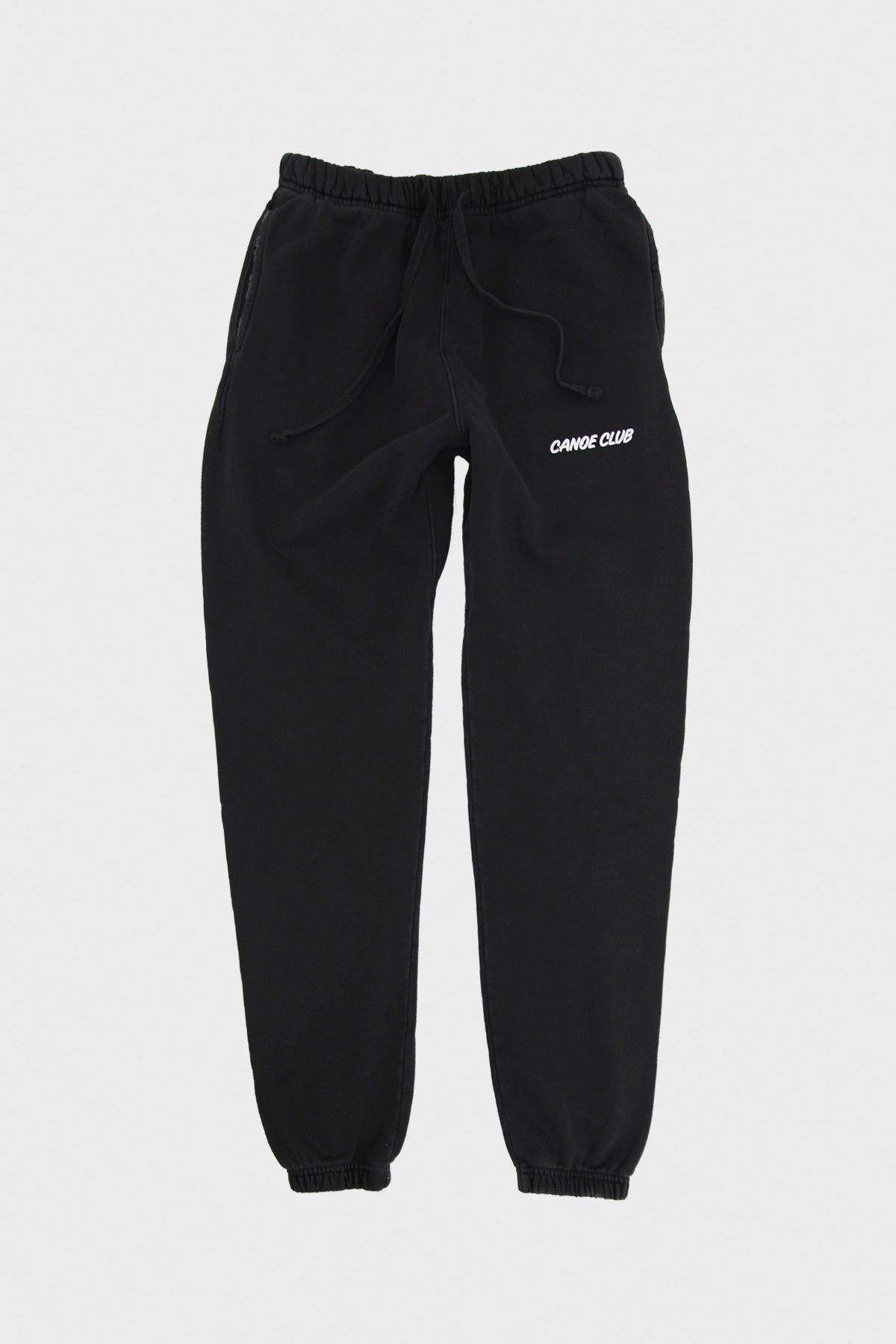 Canoe Club Collaborations - Canoe Club Sweats - Pigment Dyed Black - Canoe Club