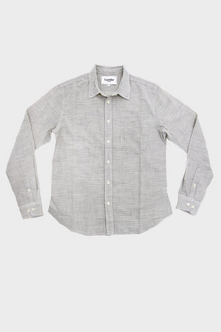 corridor clothing nyc Tattersal Check Shirt - Natural Navy