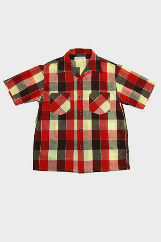 "sugarcane clothing japan Fiction Romance ""Tom Sawyer"" Check Open Shirt - Red"