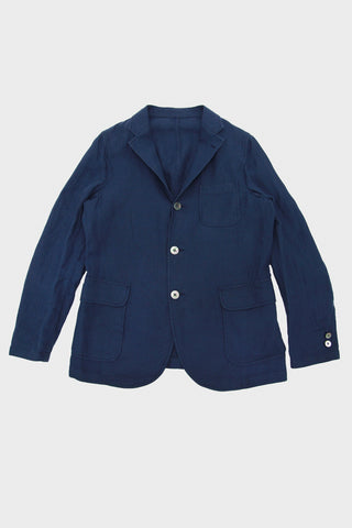 beams plus 3 Button Shirt Jacket - Navy