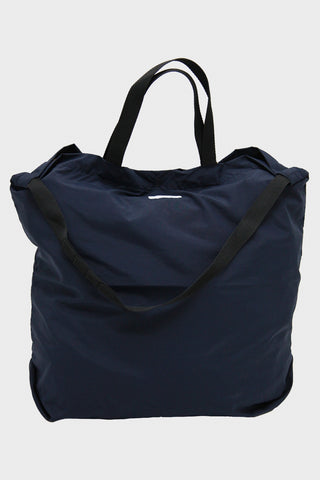 Carry All Tote - Navy Coated Nylon Taffeta