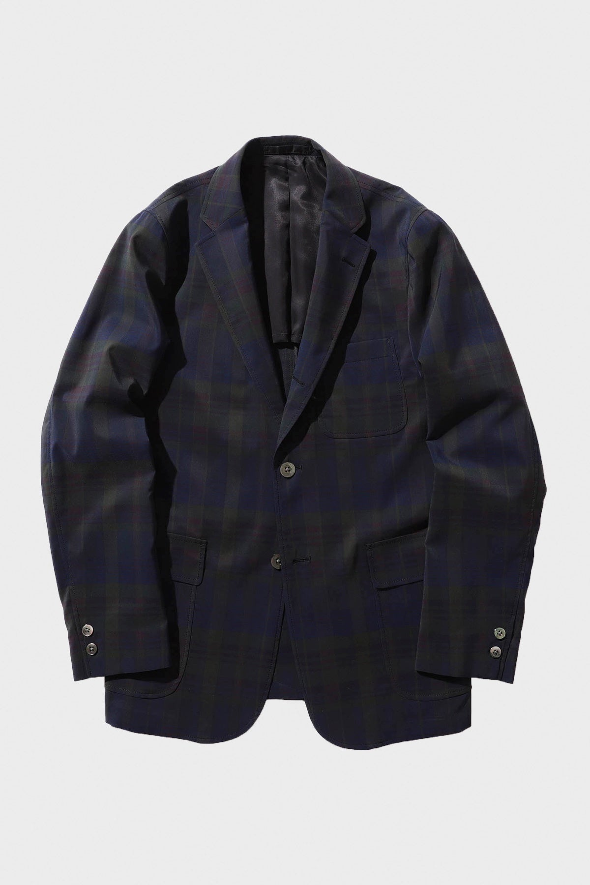 Beams Plus - 3 Button Check Jacket - Navy - Canoe Club