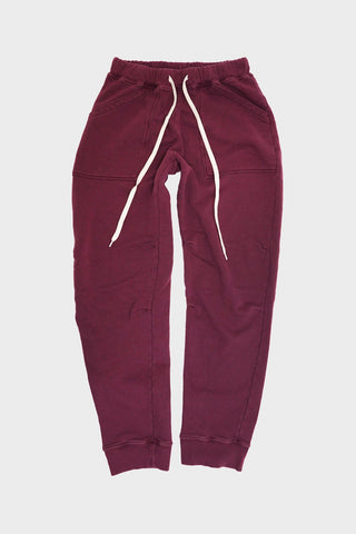 Velva Sheen Pigment Army Gym Sweat Pants - Burgundy
