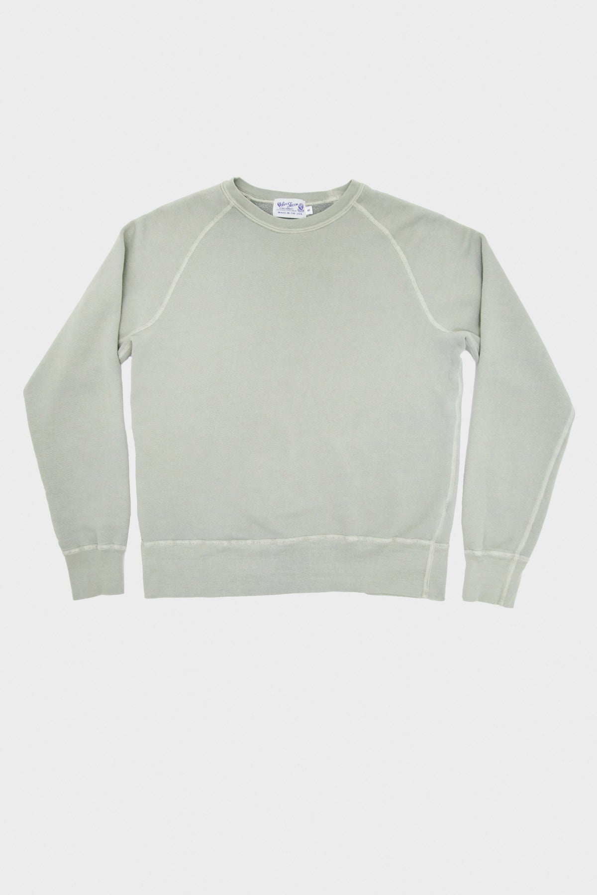 Velva Sheen - 8oz Pigment Freedom Sweatshirt - Grey - Canoe Club