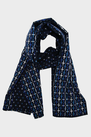 Scarf - Black and Royal Stripe