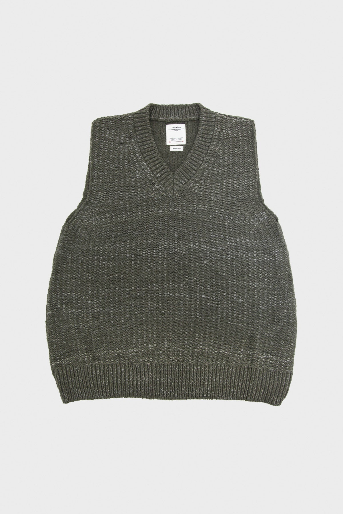 Visvim - Tussar V-Neck Vest - Grey - Canoe Club