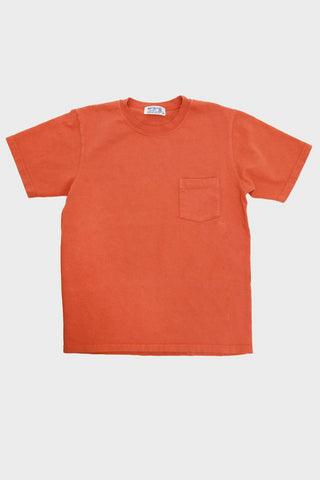 Velva Sheen Heavy Pocket Tee - Orange