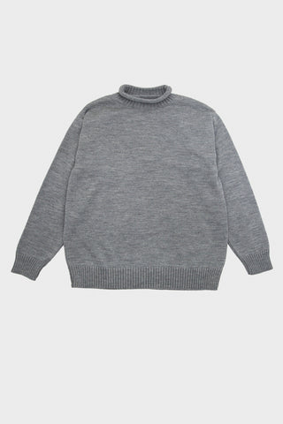 arpenteur Dock Sweater - Merino Wool Heavy Jersey Knit - Grey
