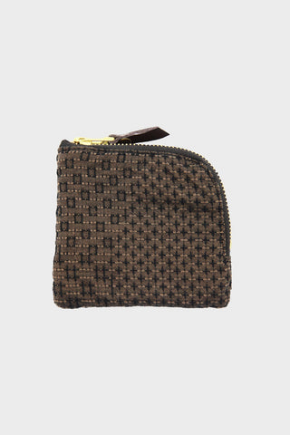 kiriko Zipper Wallet - Brown Sashiko