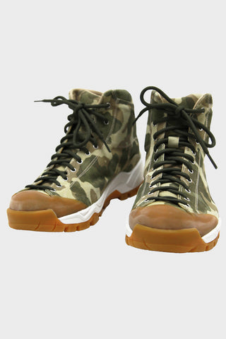 Movida Basket - Green Camo Suede