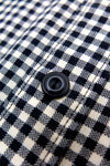 Alaska Cotton Check Shirt - Cream Black Cotton