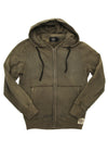 Cotton French Terry Hoodie - Olive
