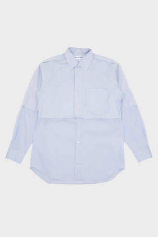 comme des garcons shirt Dobby/Poplin Check Shirt - Blue Mix
