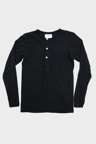 Long Sleeve Henley - Coal