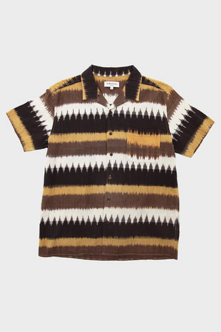 Malick Shirt - Brown Ikat Weave