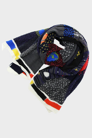 Compressed Wool Scarf COSMIC GABBEH - Black