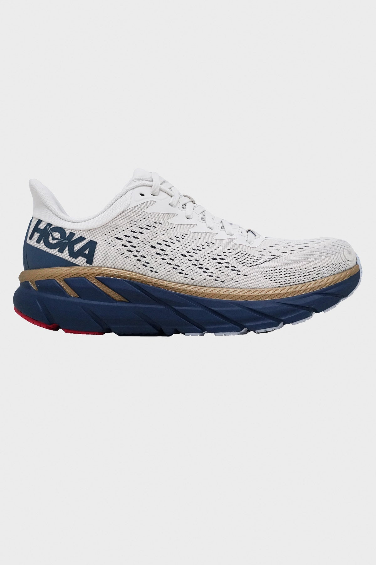 HOKA ONE ONE - Clifton 7 - Tofu/Vintage Blue - Canoe Club