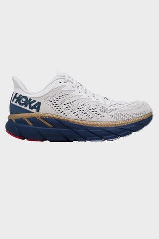 hoka one one Clifton 7 shoes - Tofu/Vintage Blue