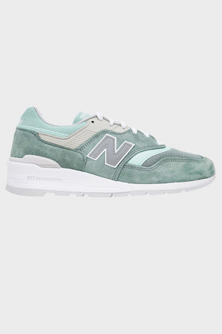 new balance M997 shoes - Green/White