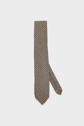 engineered garments Neck Tie - Brown Wool Poly Gunclub Check