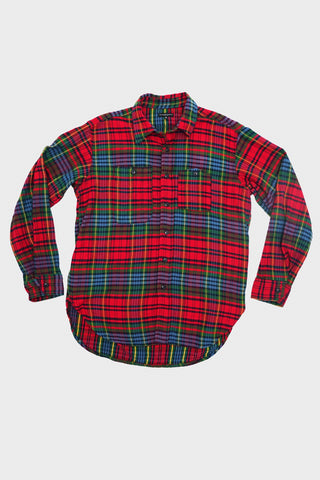 engineered garments Work Shirt - Navy/Red/Green Cotton Twill Plaid