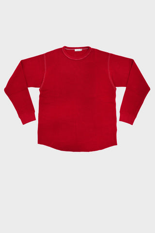 nanamica Long Sleeve Crew Neck Shirt - Red
