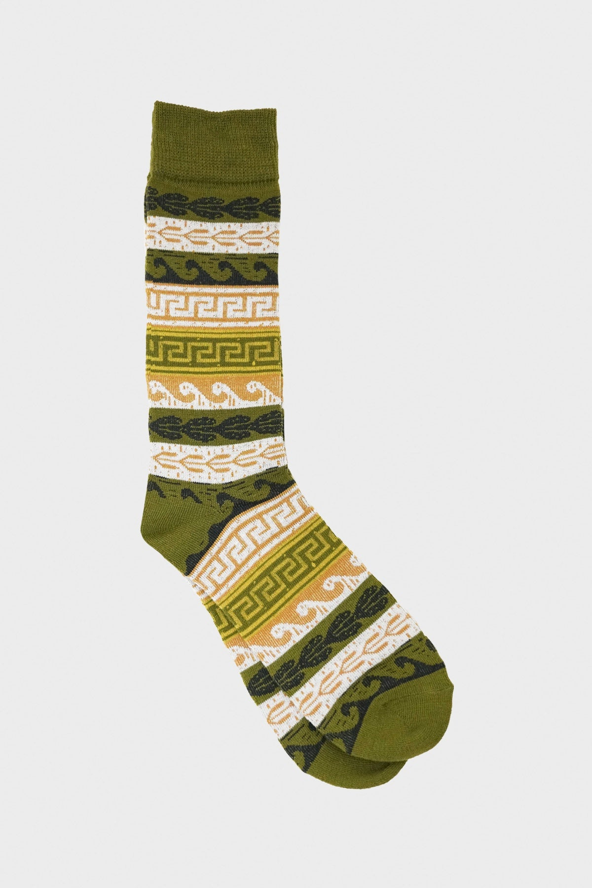 anonymous ism Tribal Pattern Crew socks - Khaki