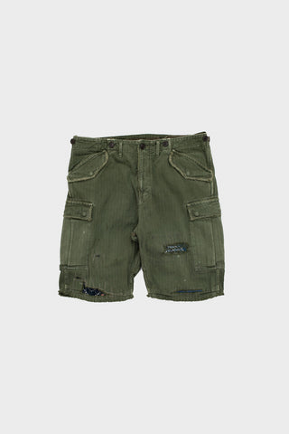 visvim indigo camping trading post find your happiness I.C.T. Jumbo Eiger Sanction Shorts Crash - Light Grey