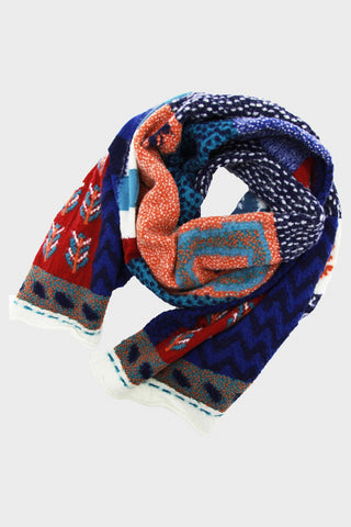 Compressed Wool Scarf VILLAGE GABBEH - Turquoise