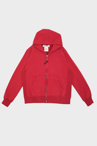 remi relief Special Finish Fleece Zipped Hoodie - Orange/Red