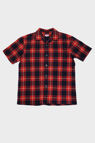 arpenteur Pyjama Shirt - Orange Check Cloth