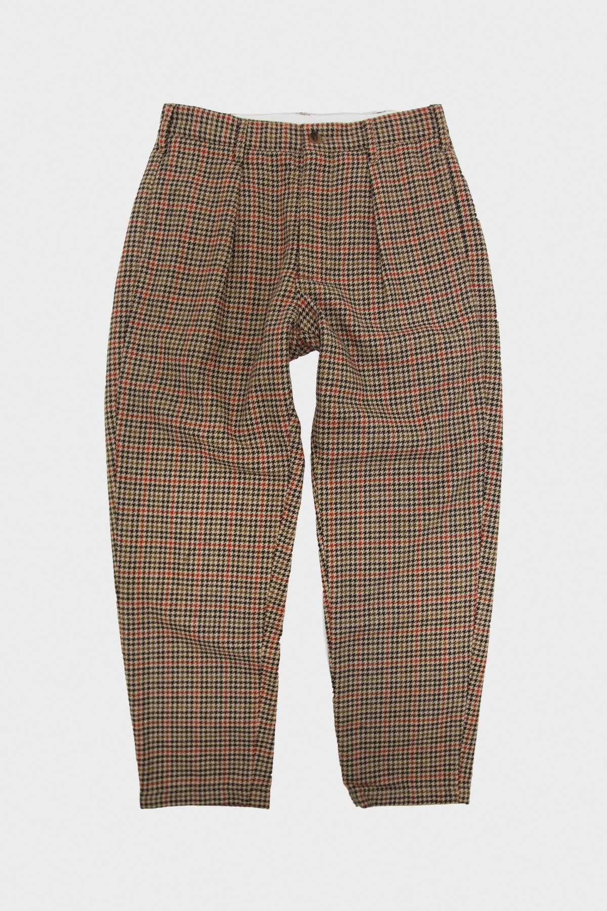 Engineered Garments - Carlyle Pant - Tan/Orange Wool Big Gunclub Check - Canoe Club