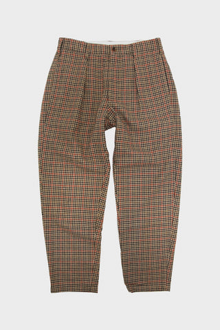 engineered garments Carlyle Pant - Tan/Orange Wool Big Gunclub Check