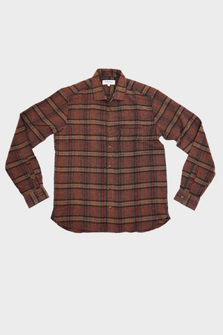 you must create (ymc) Game Wool Check Curtis Shirt - Brown