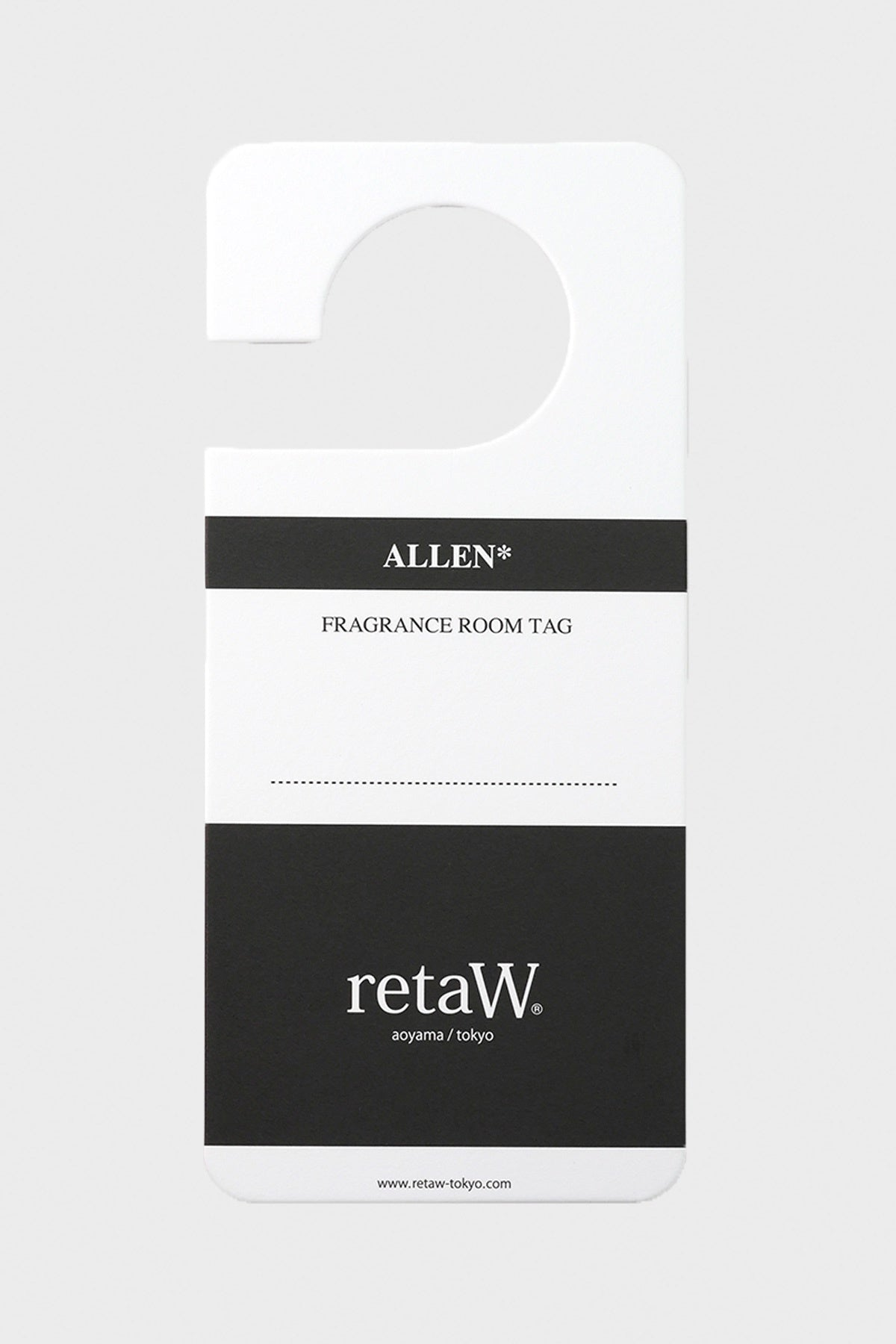 retaW - Fragrance Room Tag - Allen - Canoe Club