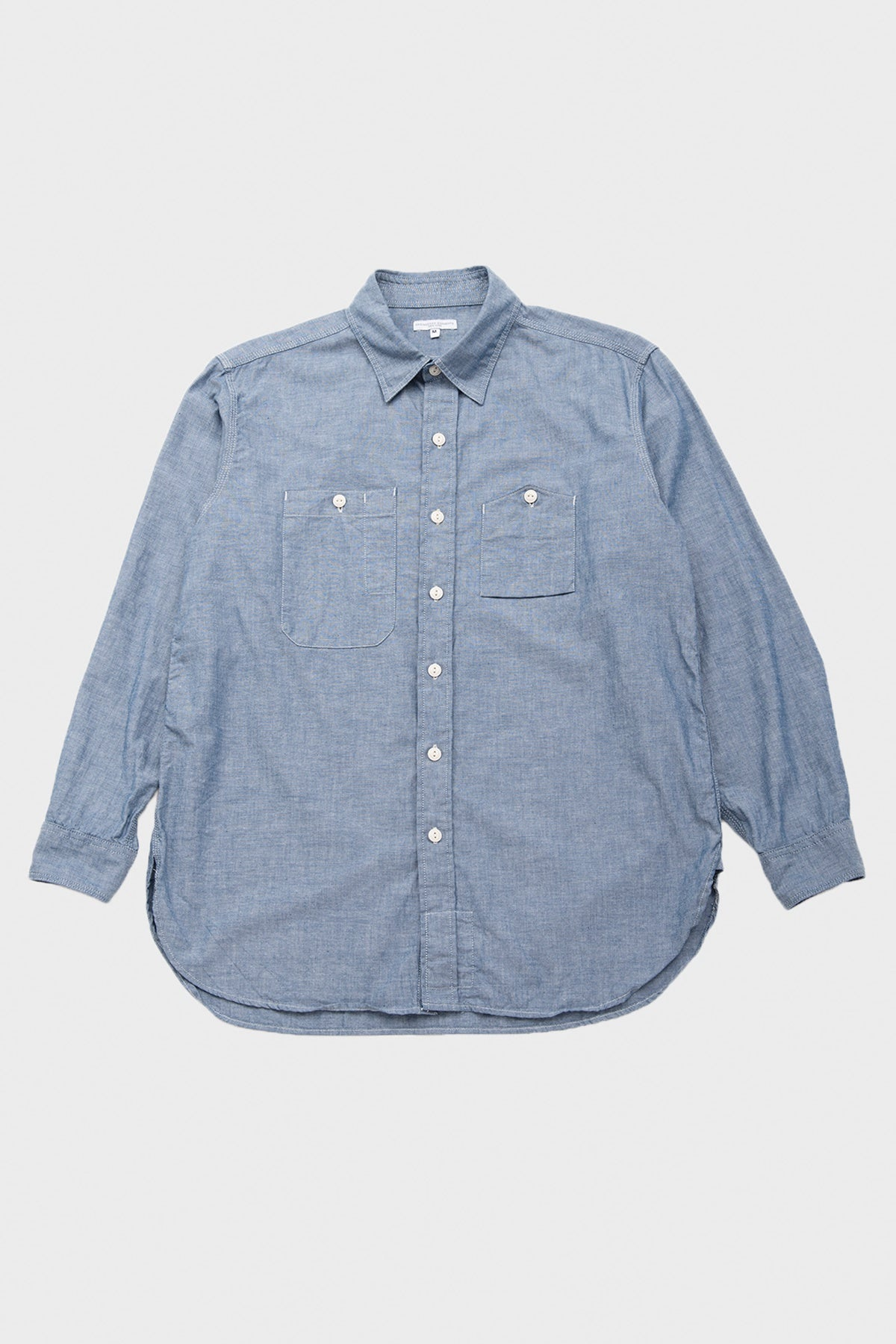 Engineered Garments - Work Shirt - Blue Cotton Chambray - Canoe Club