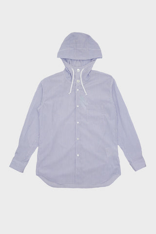 comme des garcons shirt Yarn Dyed Cotton Poplin Hood Shirt - Stripe 1