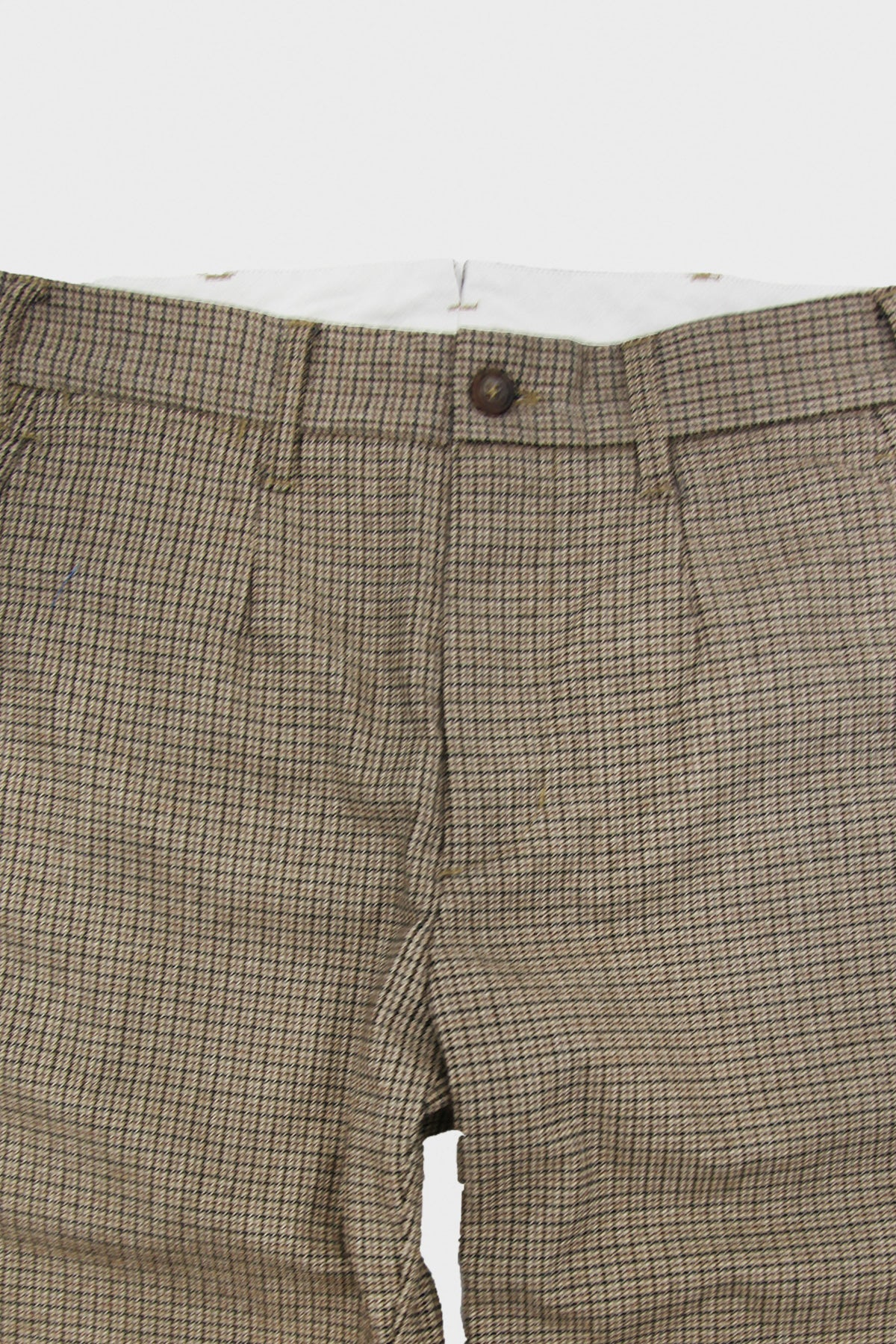 Engineered Garments - Andover Pant - Brown Wool Poly Gunclub Check - Canoe Club