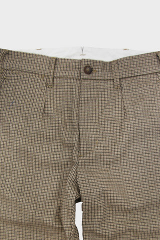engineered garments Andover Pant - Brown Wool Poly Gunclub Check