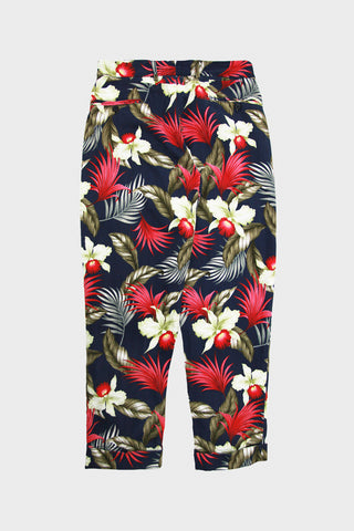 engineered garments Andover Pant - Navy Hawaiian Floral Java Cloth