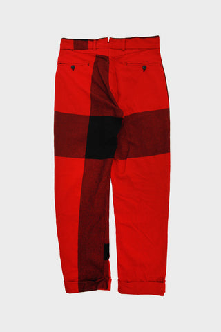 Andover Pant - Red Big Plaid Worsted Wool Flannel