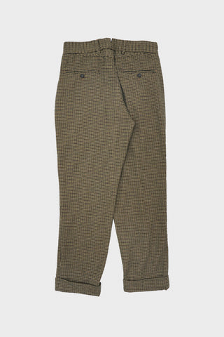 engineered garments Andover Pant - Tan/Green Wool Gunclub Check