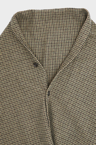 engineered garments Button Shawl - Tan/Green Wool Gunclub Check