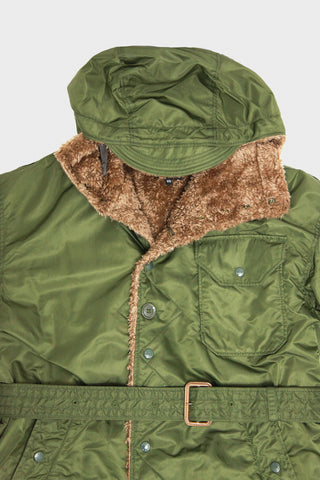 engineered garments Coastline Parka - Olive Flight Satin Nylon