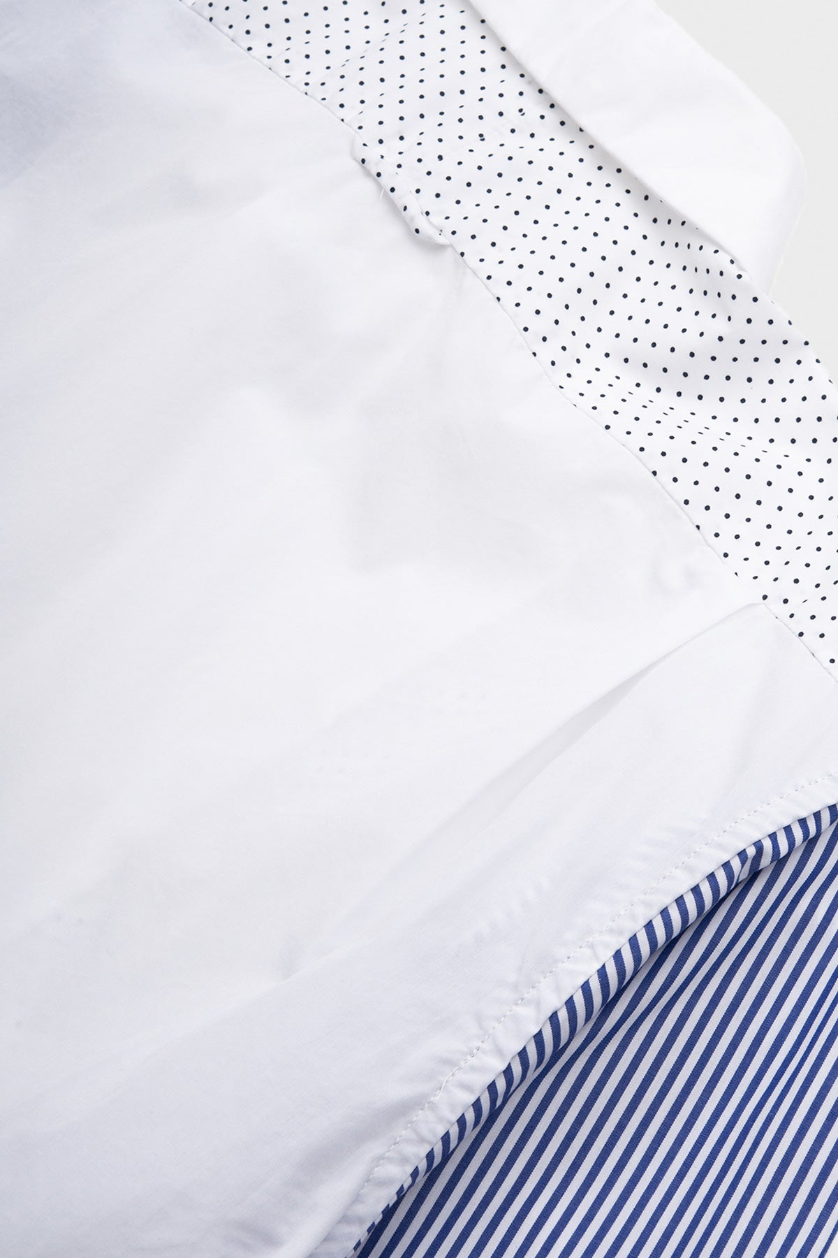Engineered Garments - Combo Short Collar Shirt - White Broadcloth - Canoe Club