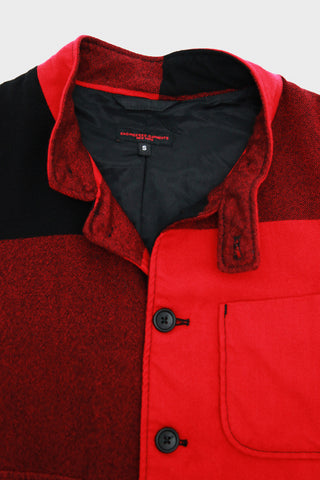 Grim Jacket - Red Big Plaid Worsted Wool Flannel