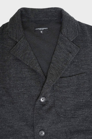 engineered garments Knit Jacket - Charcoal Poly Wool Jersey Knit
