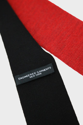 Knit Tie - Red/Black Combo