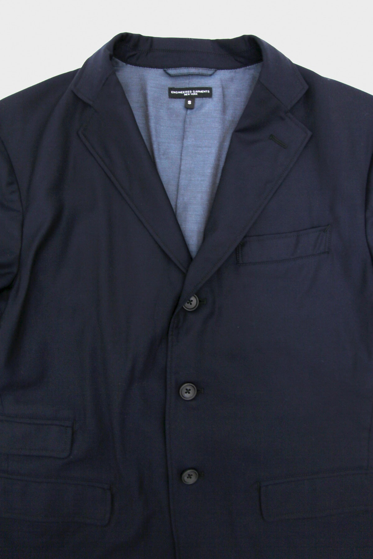 Lawrence Jacket - Dark Navy Wool Chalk Stripe